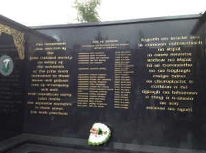 An IRA memorial on the Catholic side of the wall.