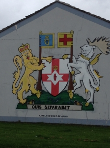A mural on the Protestant side of the wall.