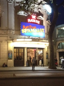 Spamalot at the Playhouse Theater.