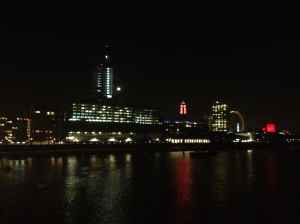 The Thames River at night